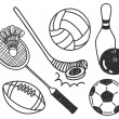 Stock Vector: Set of sport ball