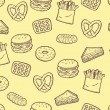 Snack food background — Vector de stock #38224967