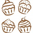 Set of cupcake — Stock Vector #38226567