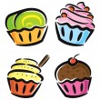Set of cupcake — Stock Vector #38226573