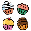 Set of cupcake — Stock Vector #38226577