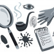 Stock Vector: Detective stuff