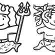 Vetorial Stock : Greek mythology cartoon
