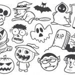 Halloween doodle — Stock Vector