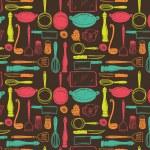 Kitchen utensils seamless pattern — Stock Vector #38228077