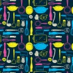 Kitchen utensils seamless pattern — Stock Vector #38228085