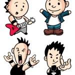 Punk rocker cartoon — Stock Vector #38228821