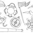 Vector de stock : Nautical object