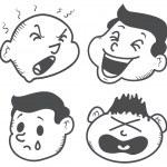 Set of cartoon expression — Stock Vector