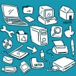 Set of computer icon — Stock Vector #38229545