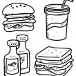 Food and drink doodle — Vector de stock #38229889