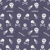 骨架涂鸦无缝模式 — 图库矢量图片