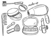 Makeup kit — Vettoriale Stock
