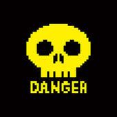 8-bit skull icon — Stock Vector
