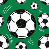 Soccer ball seamless pattern — Stock Vector