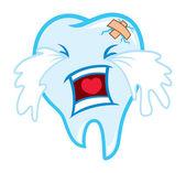 Toothache cartoon — Stock Vector