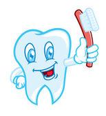 Zubního kartáčku kreslený — Stock vektor