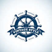 Vintage nautical emblem — Stock Vector
