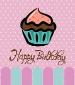 Cupcake birthday card — Stock Vector