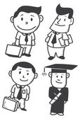 Businessman cartoon — Stock Vector