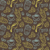 Vintage coffee background — Stockvektor