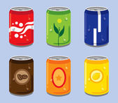 Soft Drink Cans — Stock Vector