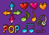 Colorful music icon — Wektor stockowy