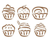 Set of cupcake — Stock Vector