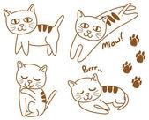 Set of cute cat — Stock Vector