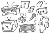 Set of electronic devices — Wektor stockowy