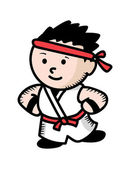 Karate kid cartoon — Wektor stockowy