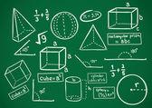 Math doodle — Stock Vector
