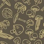 Fond aux champignons — Vecteur