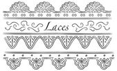 Set of laces doodle — Stock Vector