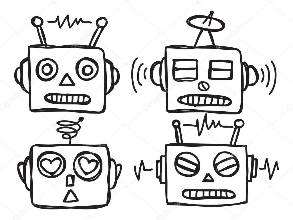 Twitter Facebook Pinterest Google PlusRobot Face Drawing