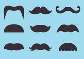 Set of vintage mustache icon — Wektor stockowy