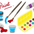 Set of painting equipment — Stock Vector
