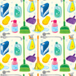 Cleaning kit background — Stock Vector #38685411