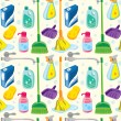 Cleaning kit background — Stock Vector