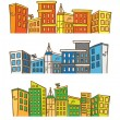City skylines in doodle style — Vector de stock  #38685419