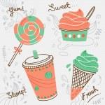 Dessert doodle — Stock Vector #38685473