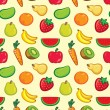 Stock Vector: Fruit pattern