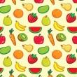 Fruit pattern — Stock Vector