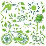 Go green concept doodle — Stock Vector