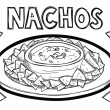 Stock Vector: Nachos
