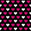 Stock Vector: Heart pixel pattern