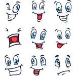 Set of cartoon face — Stock Vector #38686005