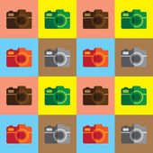 Vintage camera illustration — Stock Vector