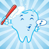 Cartoon tooth — Stock Vector