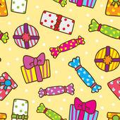 Geschenk vak patroon — Stockvector